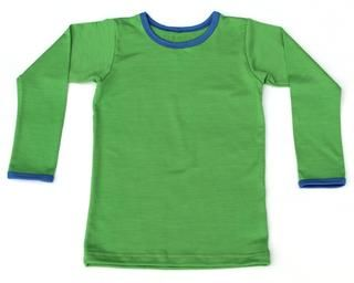 Grasshopper Green with Cobalt Blue trim Tee