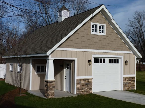 Craftsman style barn just finished the garage journal for Pole barn garage homes