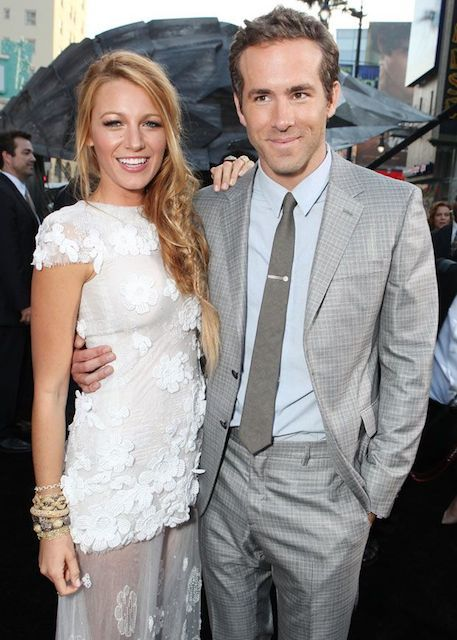 Canadian actor Ryan Reynolds with his wife Blake Lively...they married on September 9, 2012...