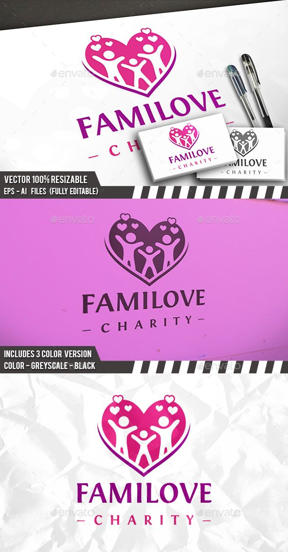 Family Love Logo Template - Humans Logo Templates Download here: https://graphicriver.net/item/family-love-logo-template/20039704?ref=classicdesignp