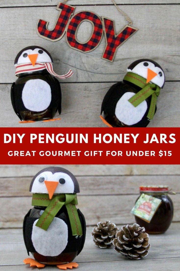 Diy Penguin Honey Jars Holiday Crafts For Kids Crafts Winter