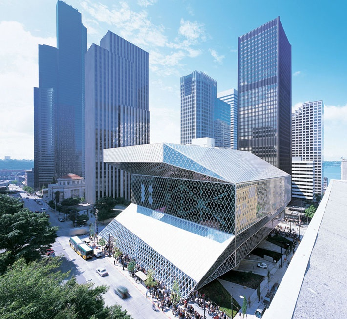 #4 Seattle Central Library, by OMA + LMN