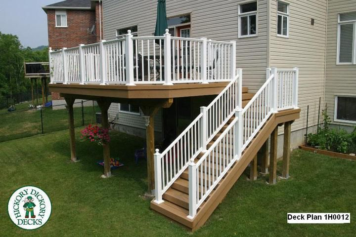 This Deck Plan Is For A Large, High, Single Level Deck With Stairs. Deck  Stair Plans, High Deck With Stairs