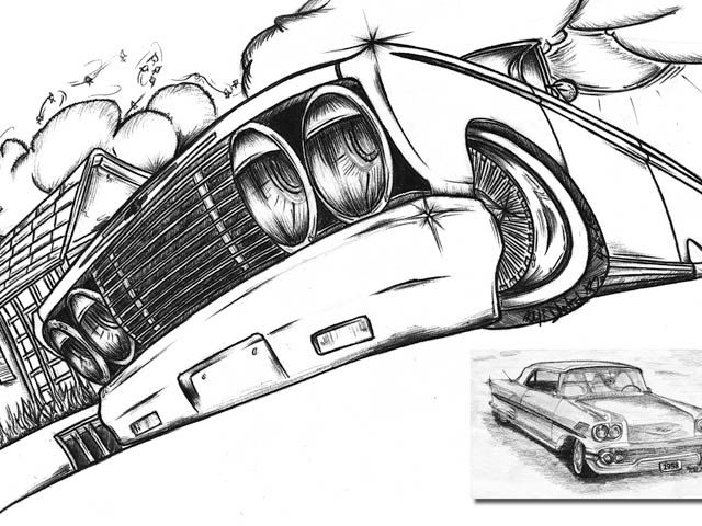 Pix For Cool Lowrider Cars Drawings Low Riders Pinterest