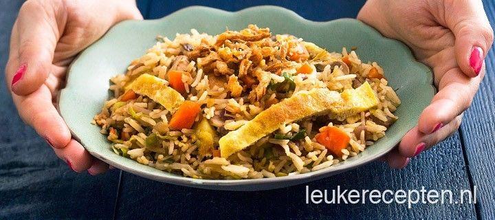 Met dit nasi recept kun je variëren met verschillende soorten groenten