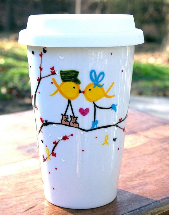 Army Yellow Ribbon Military Love Birds  Yellow Ribbon by v2vozart, $24.00