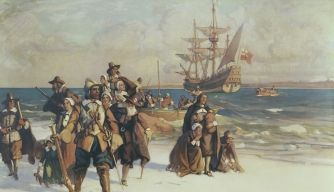[PINTURA] Plymouth Colony [http://en.wikipedia.org/wiki/Plymouth_Colony] [http://en.wikipedia.org/wiki/Puritan] [http://www.puritansermons.com/banner/logan1.htm]