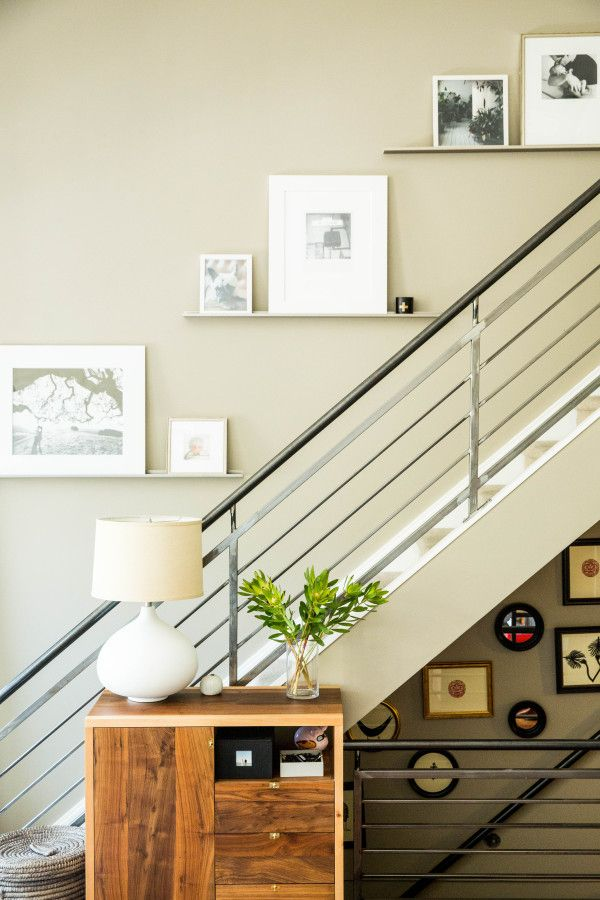 Charming Artwork Along The Staircase   Loft Reveal: {Making Our Living Room Baby  Friendly}