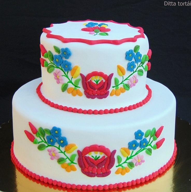 Emeletes Kalocsai mintás torta