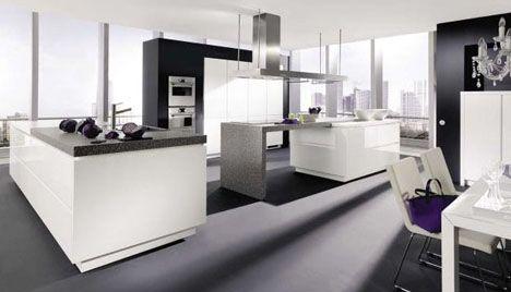 kitchen- black/white ideas