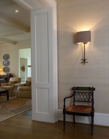 Melissa Ervin--love the grasscloth wallpaper in entryway