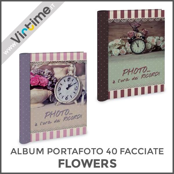 "Album portafoto 40 facciate adesive, modello ""FLOWERS"". Disponibile in 4 versioni. Confezione: termoretraibile Dimensioni: 21 x 27 cm Ref. S36208/04 #Virtime #virtimeclock #virtimehome #milan #italy #italiandesign #interiordesign #decoring #italianfurniture #house #homeart #photography #photobook #photoshoot #photographylovers #pictures #quality #fotografia #linkinbio #photobooth #lovethem #love #nature #flowers #clock #cover #lavender #iloveyou  #I #YOU"