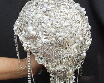 PAÍS rústico GLAM boda Bouquet depósito de por Elegantweddingdecor