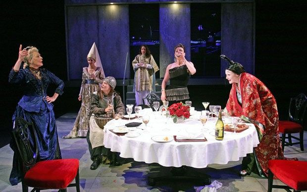 Charles Spencer was surprised to find he can highly recommend this play, Top   Girls at the Minerva Theatre in Chichester, by Left-wing writer Caryl   Churchill.  Rating: * * * *