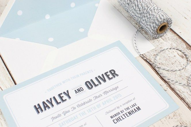 Vintage Retro Typography Wedding Stationery Range | Flourish & Lace Bespoke Wedding Stationery and Invitations