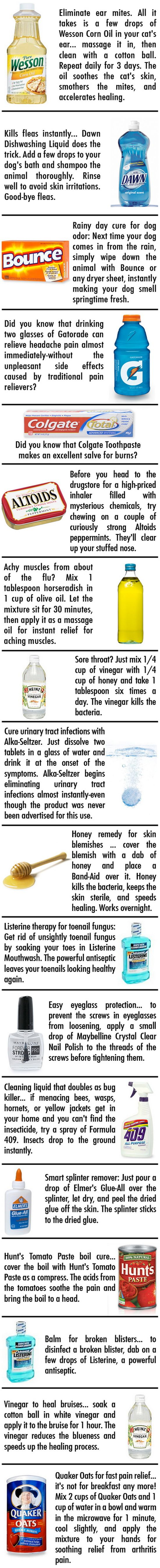 How To Make Homemade Remedy Cures with Common Household Products