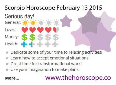horoscope february 13 scorpio