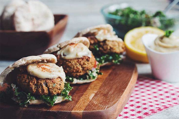 Baked Falafel Sliders with Maple Tahini Sauce