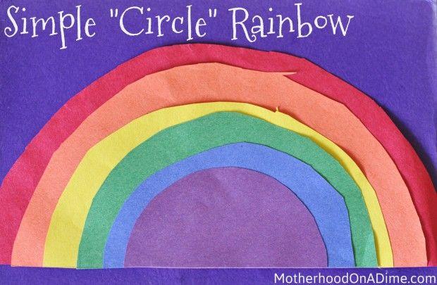 """circle"" rainbowCircles Rainbows, Rainbow Crafts, 1St Day Of Schools Preschool,  Nematodes Worms, Google Search, Shape Crafts, Art Practice Kids, Art Projects, Rainbows Crafts Preschool"