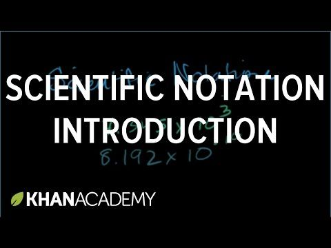 Introduction to scientific notation | Pre-Algebra | Khan Academy - YouTube