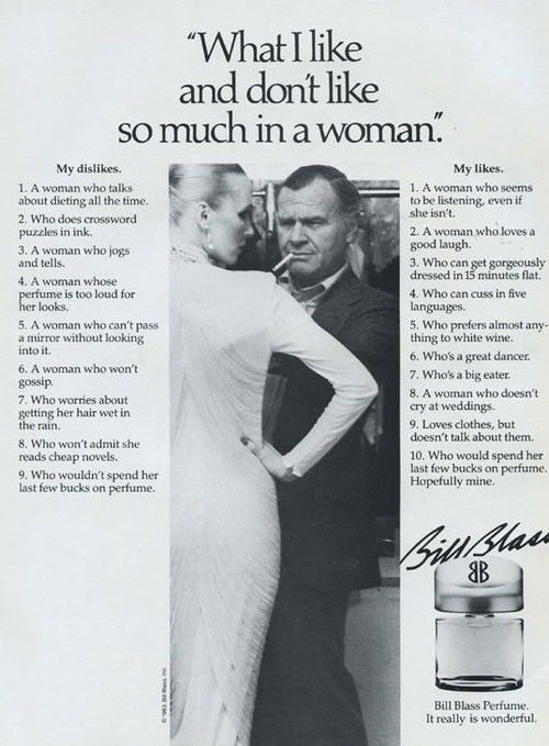 What I like and don´t like so much in a woman - Bill Blass Perfume
