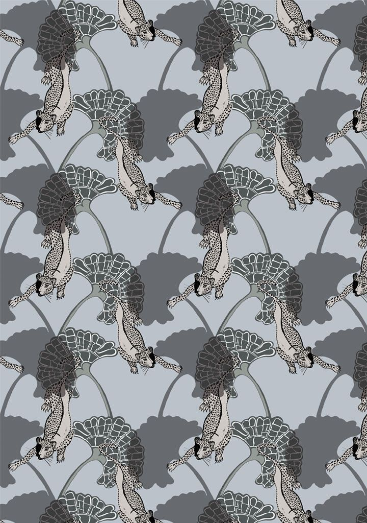 Leopard Wallpaper - Funky Wombat Textiles
