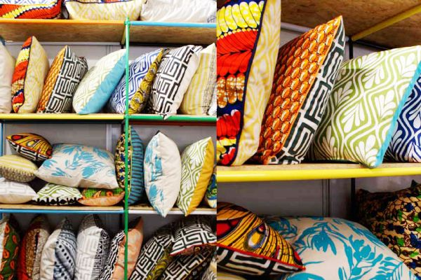 Very inspired by these pillows from Indigi Designs, using Shweshwe & other African prints.