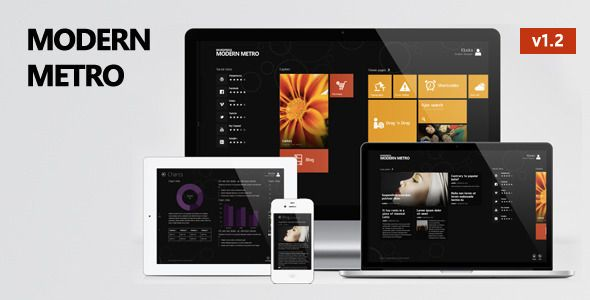 01 preview   large preview1 18 Exceptional Metro Style Wordpress Themes