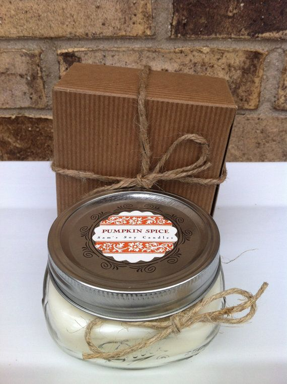 Wedding Candle Favor Soy 8 Oz Pumpkin E Wide Mouth Mason Jar Great For Bridal Showers And Baby Too