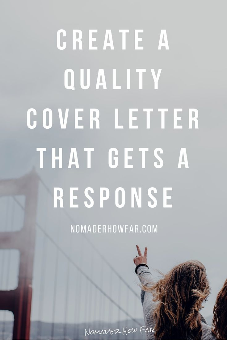 Create A Quality Cover Letter That Gets