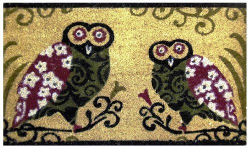 Two Owls - Printed Coco Doormat - Heavy Duty Outdoor Premium Coir Mat 18x30 by Iron Gate by Iron Gate. Save 47 Off!. $15.99. The bristled coco fibers stand up and grab dirt very well. Compact weave prevents mat from shedding.. Printed Coir doormats are made from 100% coconut husks.. Care: To clean your coir mat simply shake the rug to clean it, or you can choose to hose or scrub it.. These extremely durable mats will keep their appearance for a long time even in high traffic areas....