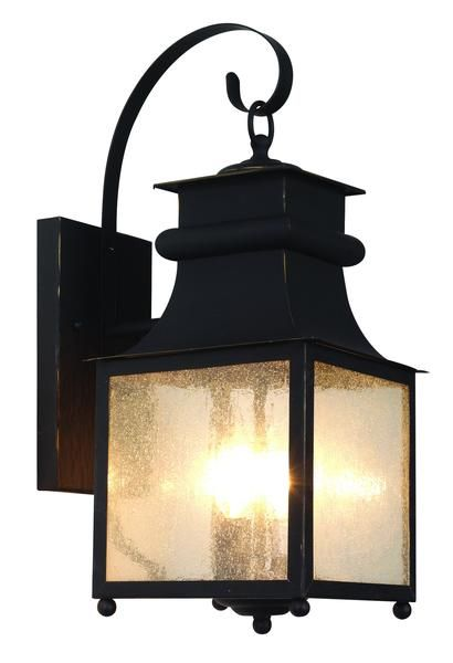 Craftsman outdoor lighting hangs delicately in place for porch lighting, patios, and outdoor living areas. Japanese inspired outdoor décor. Finish: Weathered Bronze Height: 18'' Width: 8'' Depth: 10.5