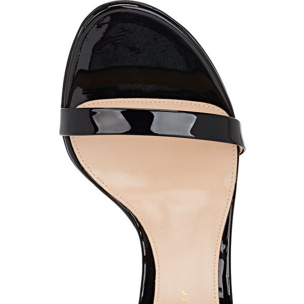 Gianvito Rossi Women's Jordan Leather & Mesh Sandals (550.110 CLP) ❤ liked on Polyvore featuring shoes, sandals, black leather sandals, black leather shoes, leather sole sandals, leather sole shoes and high heel shoes