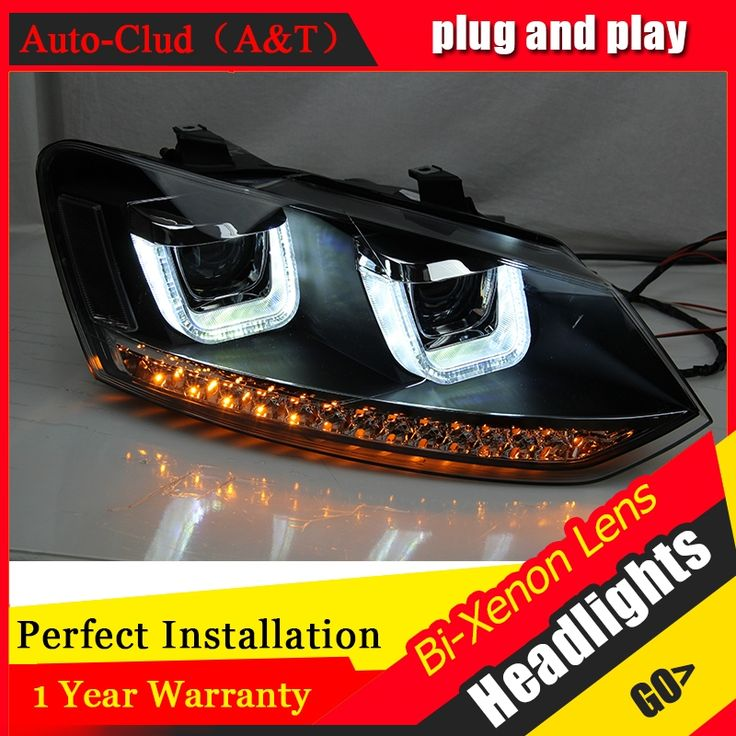523.57$  Buy now - http://alicwo.worldwells.pw/go.php?t=32694901873 - Auto Clud Car Styling 2009-2015 for VW Polo Headlights New Polo LED Headlight Cruiser drl Lens Double Beam H7 HID Xenon 523.57$
