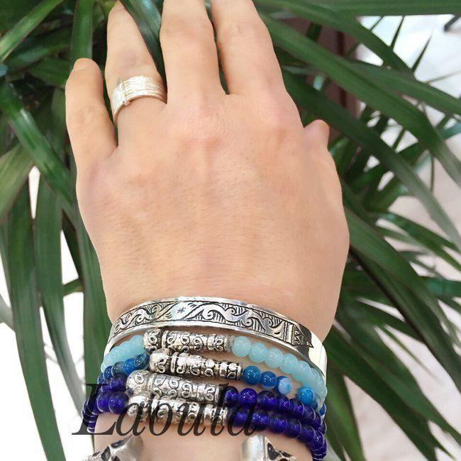 Bracelet fait main agate 1254