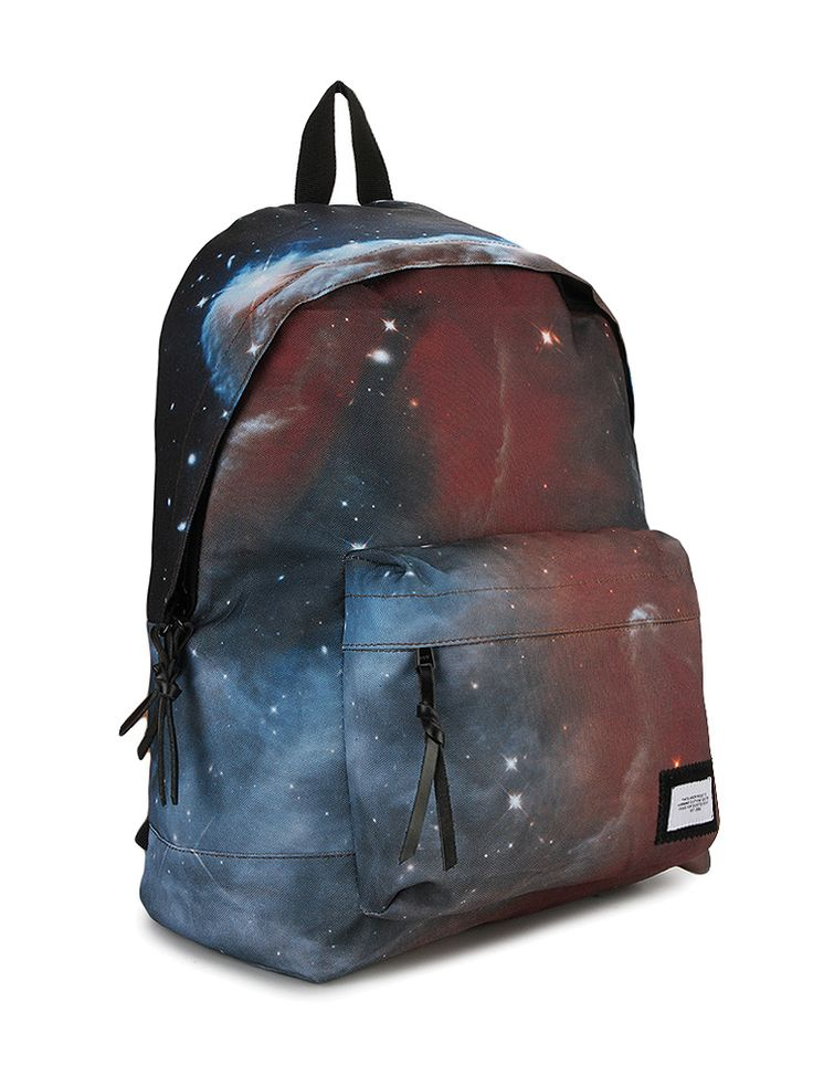 Nebula Backpack by Warning Clothing. Eye catching backpack with nebula pattern, made from polyester, zipper closure, one main compartment, feature laptop sleeve and front pocket, adjustable shoulder strap, perfect backpack for everyday use.    http://www.zocko.com/z/JJ7d6