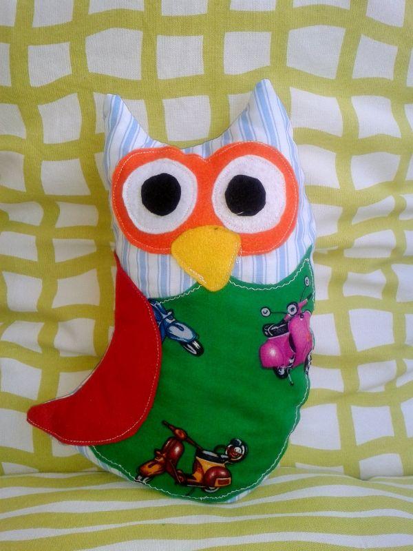soft owl. size 28cm X 20cm