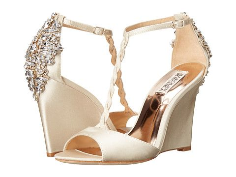 Badgley Mischka Camryn Ivory Satin - Zappos.com Free Shipping BOTH Ways