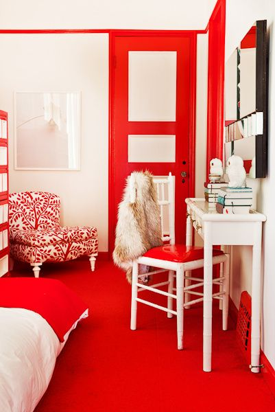 57 best Rouge ! images on Pinterest Colors, Colour red and Red - deco salon rouge blanc noir