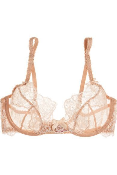 L'Agent by Agent Provocateur - Angelica Lace And Stretch-tulle Underwired Bra - Blush - 32DD