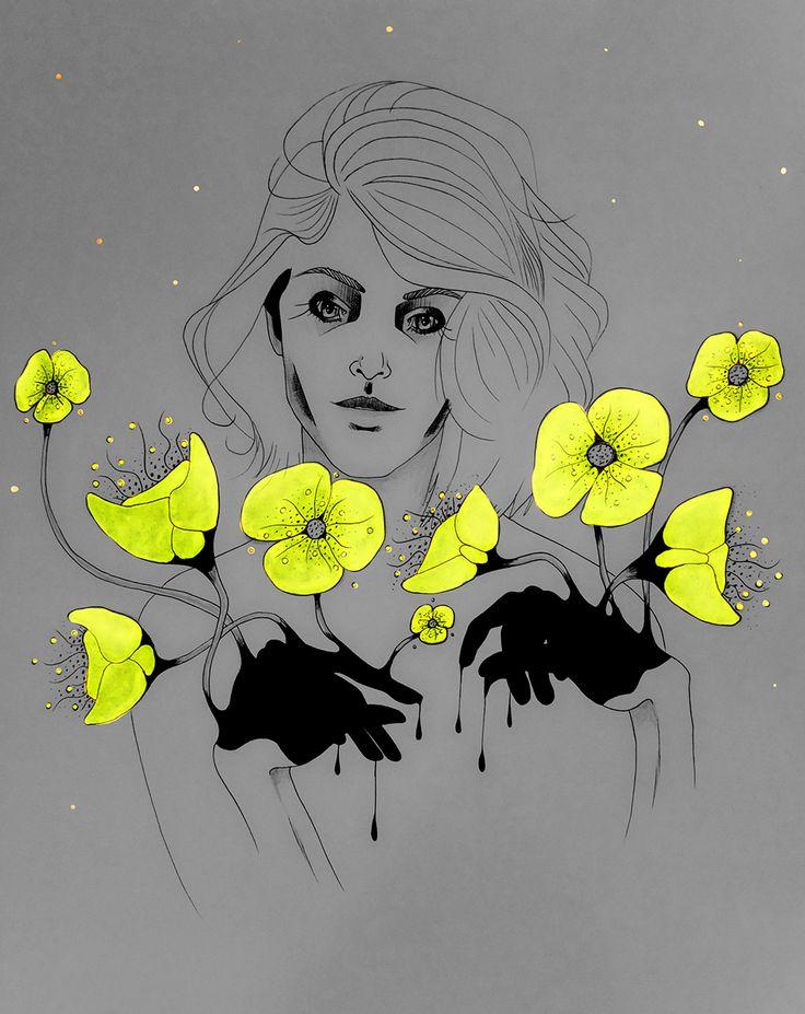 33/365 Neon Flowers And Fireflies - Marleen van de Velde