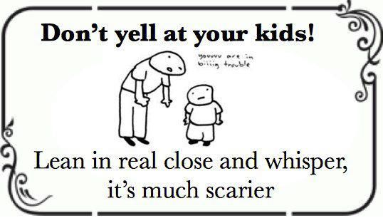 Yes, yes it is.: Parenting Funnies, Dad, Remember This, Excellent Parenting, Don T Yell, Humorous Quotes Sayings, Kids, It Works
