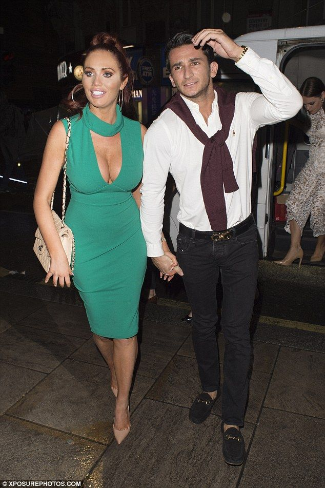 Curve appeal: Former TOWIE star Amy Childs stuck to her signature sexy look as she hit Lon...