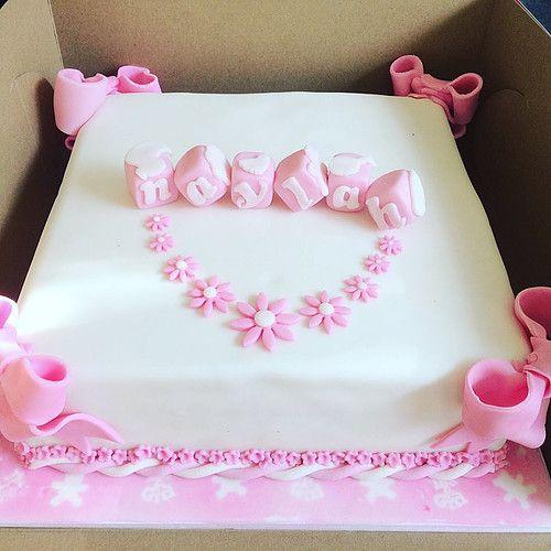 Gift Box Baby Shower Cake