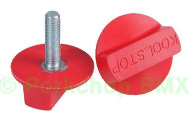 Kool Stop Intl'l old school BMX finned bicycle brake pad REFILLS (PAIR) - RED (EM-IRR)