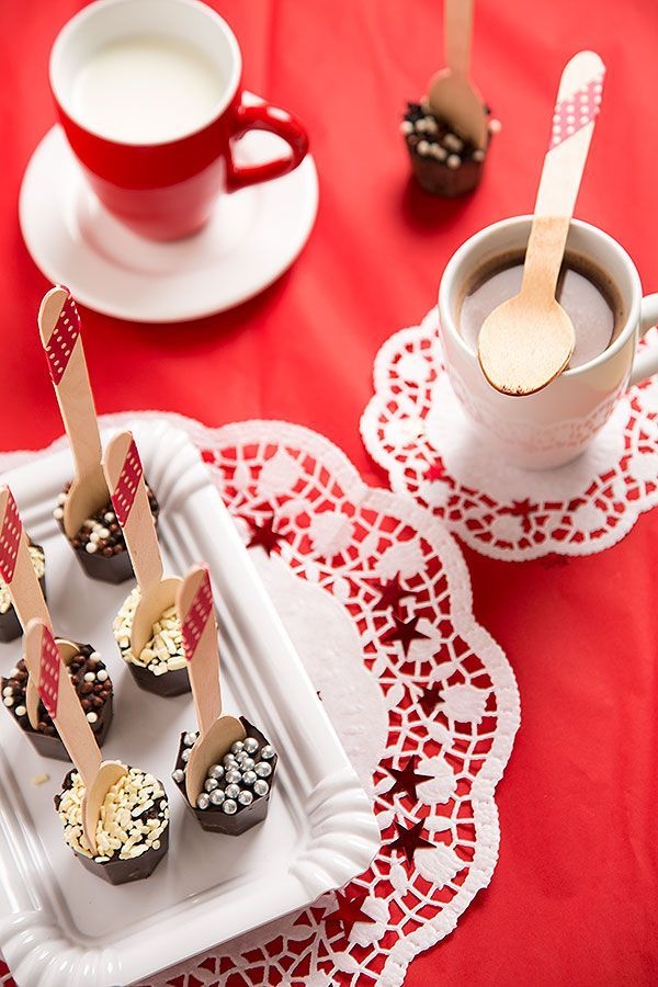 Advent Calendar Day 10 - Hot chocolate on spoons - Strudel & Cream   Visual Food Journeys from the Heart of Europe