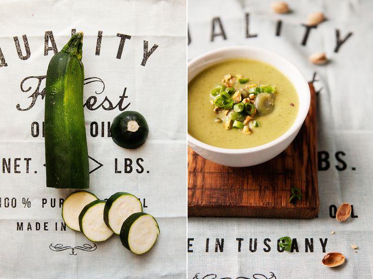 zucchini & pistachios soup
