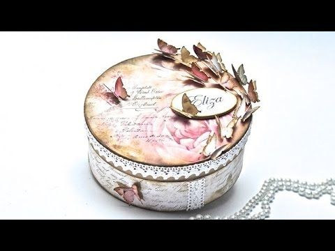 Scrapbooking pudelko z motylami  DIY  tutorial