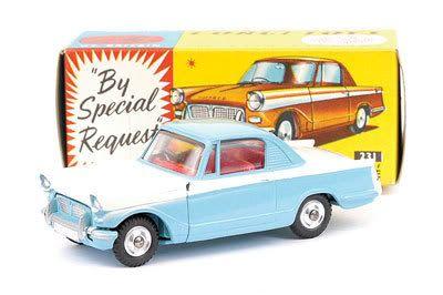 Mettoy Corgi diecast No.231 Triumph Herald Coupe 1961-65