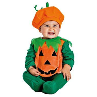Un divertido disfraz de calabaza para tu bebé.